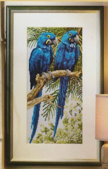 <вышивка крестом птицы - Самое