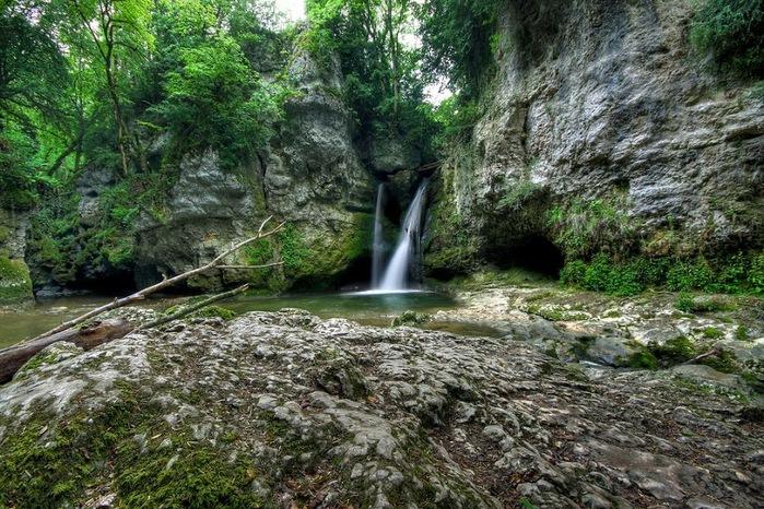 Водопад La Tine de Conflens, Швейцария 93963