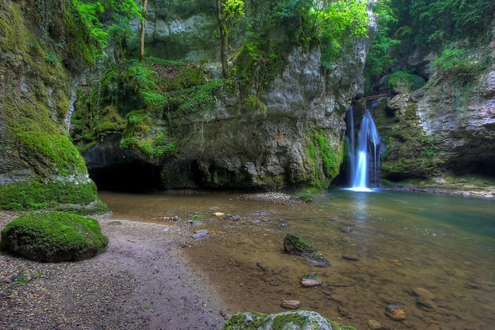 Водопад La Tine de Conflens, Швейцария 47961