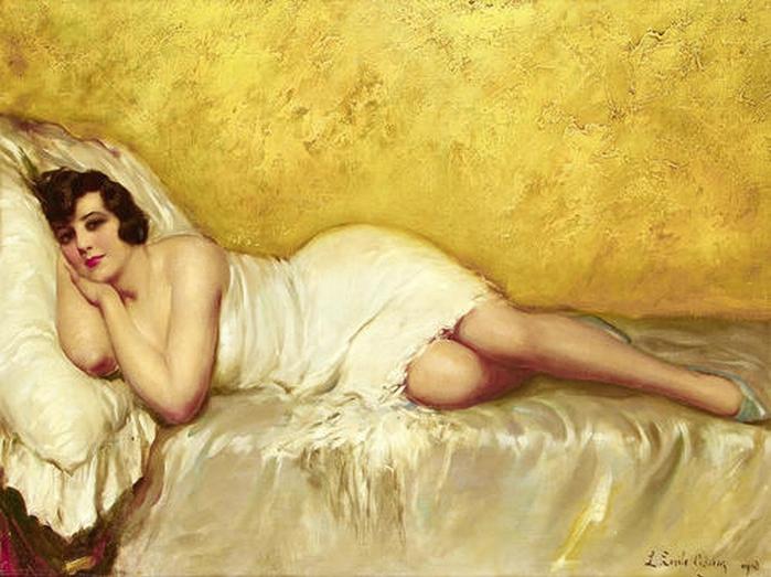 Louis Emile Adan (1839 - 1937) - Reclining lady, 1910 (700x523, 261Kb)