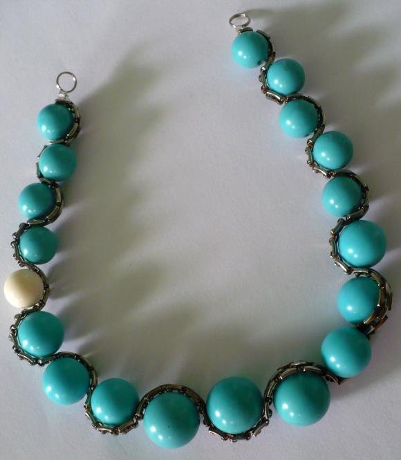 Бисероплетение ожерелья.  Простейшая схема.