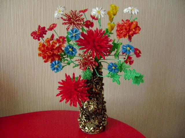 Поделка своими руками цветы фото