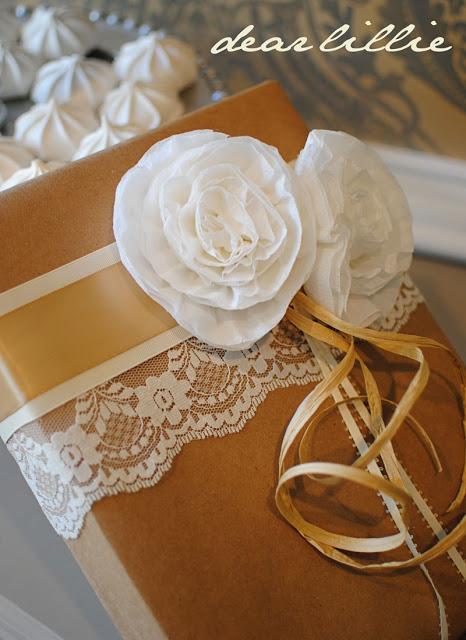цветы из креп бумаги для украшения подарков (30) (466x640, 88Kb)