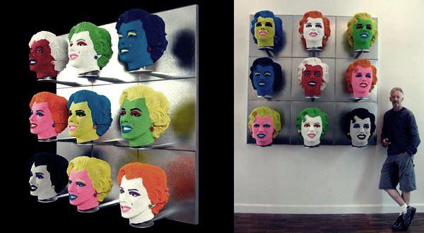 Дэвид Мак (David Mach). Скульптуры из спичек