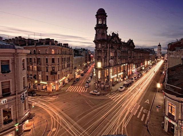Фотография 5 углов, улица рубинштейна, загородный проспект из альбома city автора serg d описание: http
