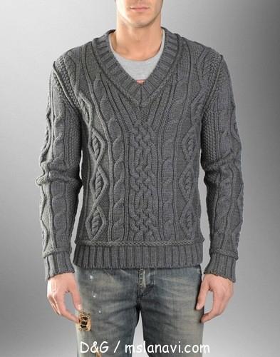 мужские-пуловеры-спицами 1