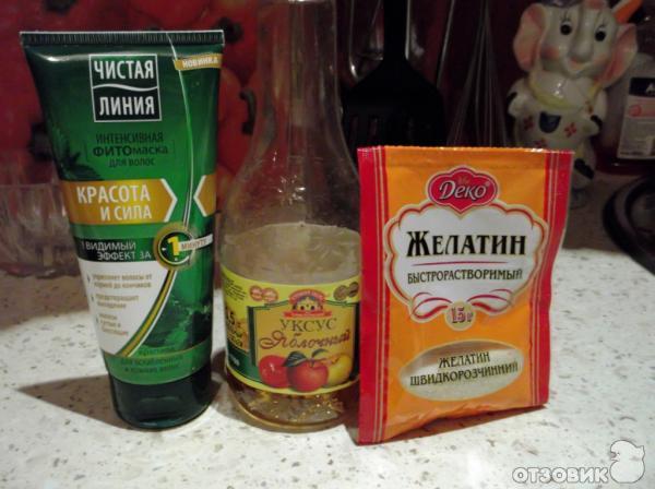 Ламинирование желатином рецепт фото