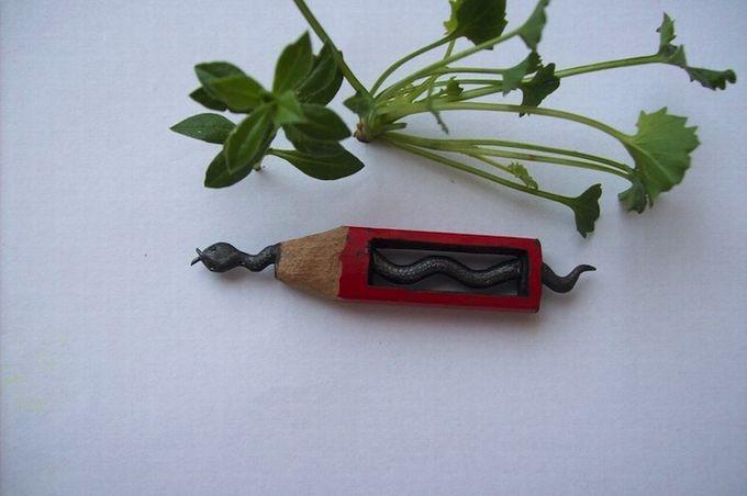 миниатюры из карандашного грифеля фото (680x452, 38Kb)
