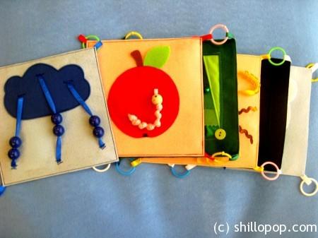 Книжка для ребенка до года своими руками из фетра