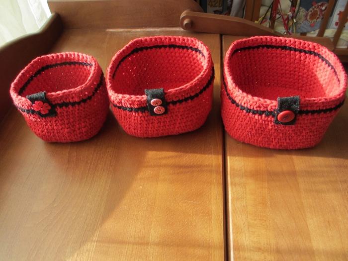 Вязание корзинки из шнура