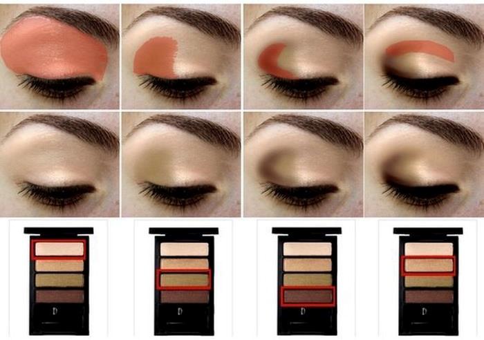 макияж глаз поэтапно фото