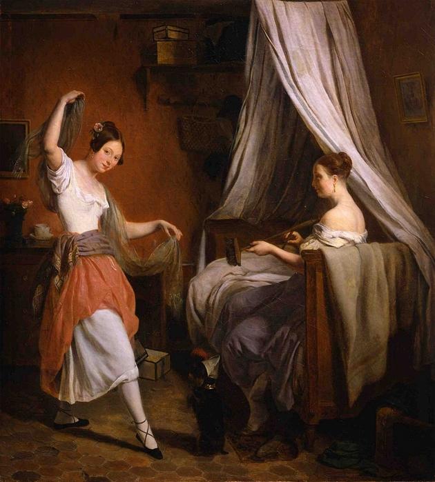 La Danse Improvisée (ca 1830). Jean-Alphonse Roehn (France, 1799-1864) (630x700, 332Kb)