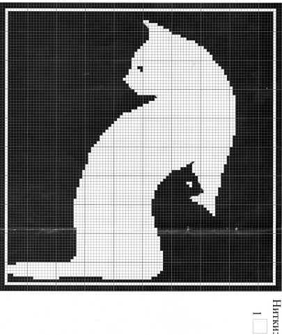 Схемы вышивки черно - белое