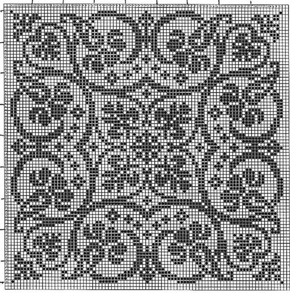 Схемы для вышивки крестом для подушек 40x40 орнаменты 60