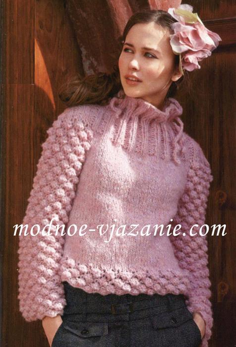 Шишечки вязание спицами.