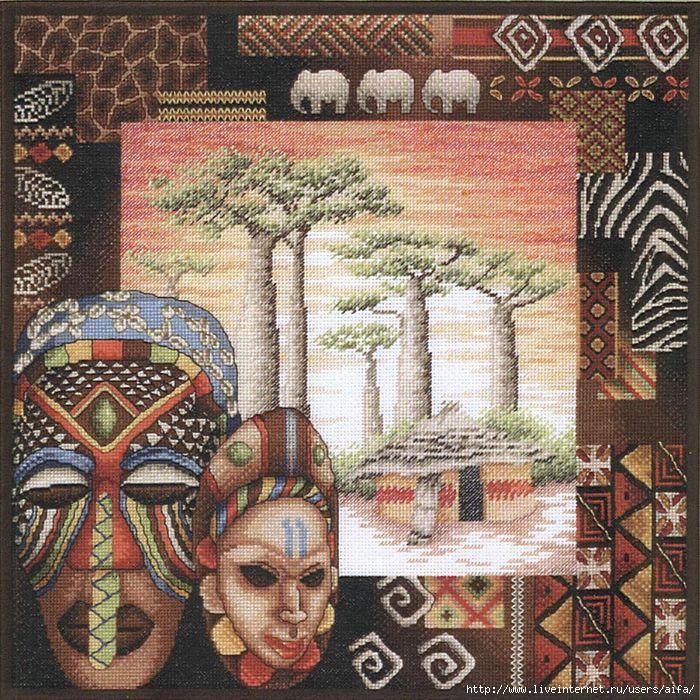 Африканские мотивы вышивка