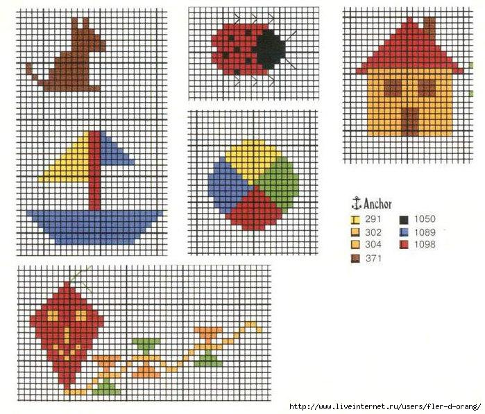 Простейшие вышивки крестом схемы для детей простые 315