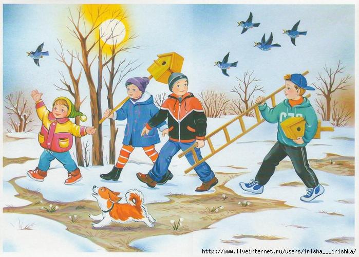 рисунки детей на тему весна: