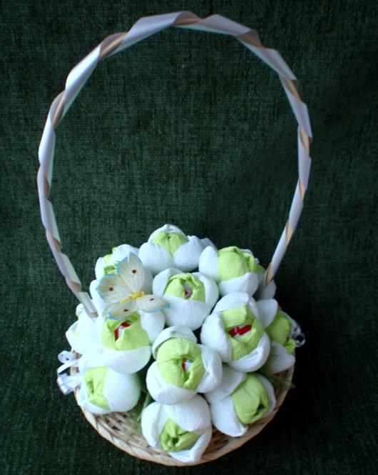 цветы из конфет (3) (530x665, 301Kb)