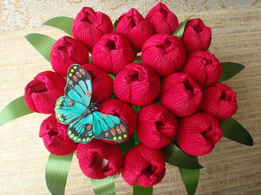 цветы из конфет (7) (530x397, 283Kb)