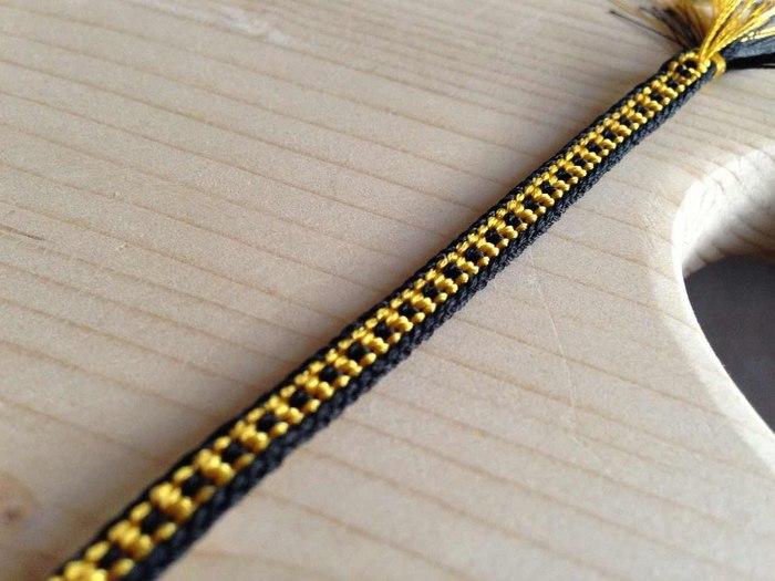 плетения плоского шнура