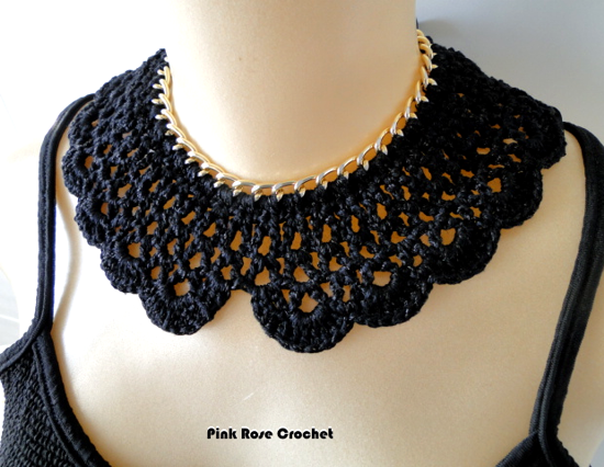 Colar Golinha Crochet Collar