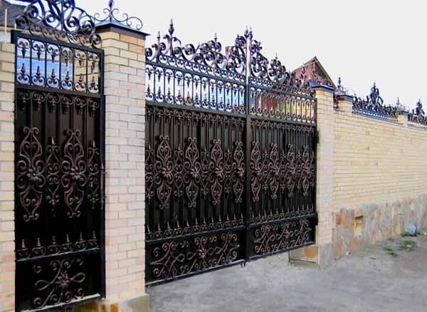 Кованые дачные ворот…