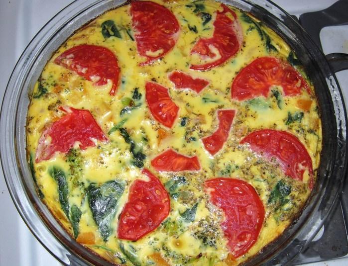 омлет с овощами в духовке Виды