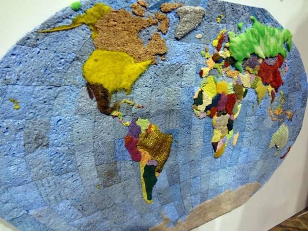 Джеффри Аллен Прайс. Карты мира и стран из губок