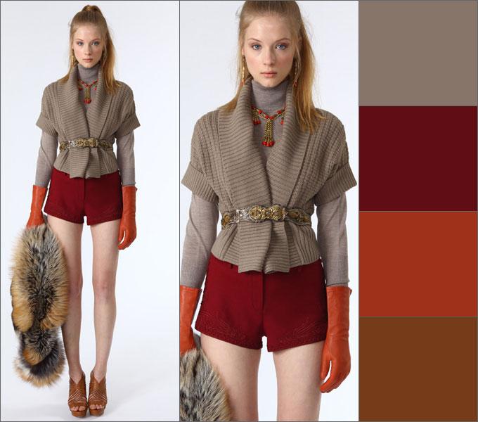 Цвет брусника в одежде