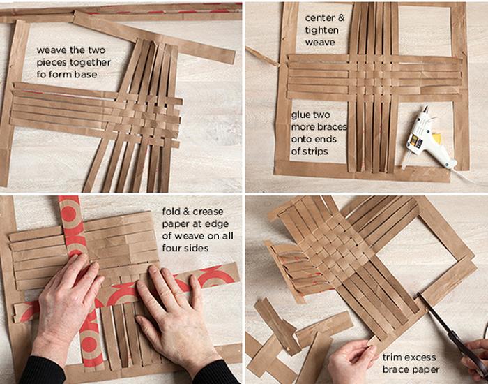 Плетем корзинку из бумаги своими руками