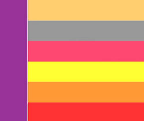 Сочетание цветов желтый и фиолетовый
