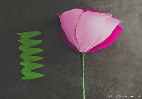 роза из гофрированной бумаги (11) (550x383, 73Kb)