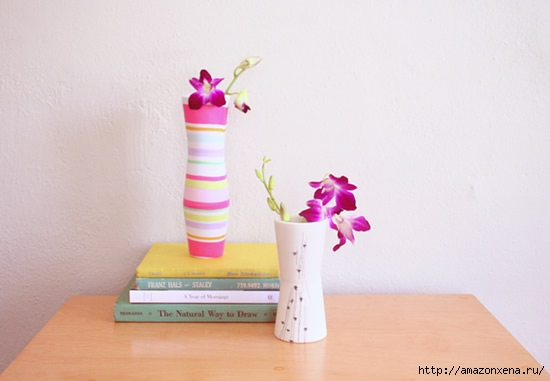 цветочная ваза из глиняных стаканов (6) (550x381, 76Kb)