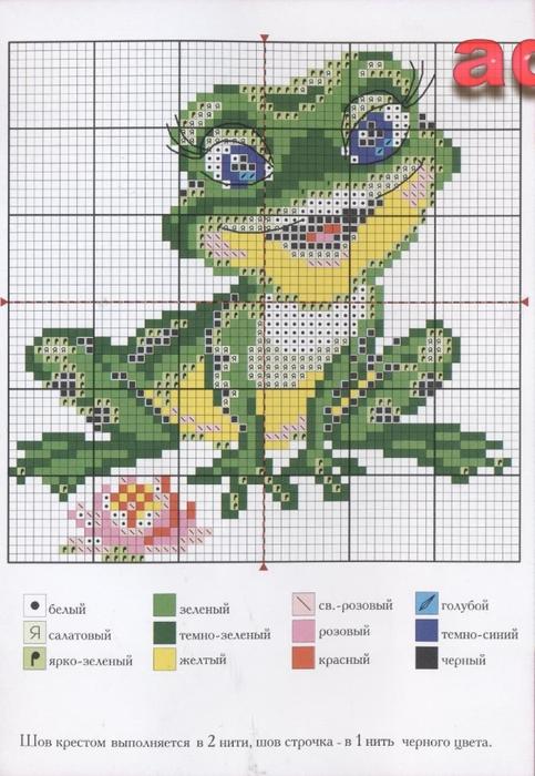вышивка жабы схема крестом КОСМЕТИКА натуральные