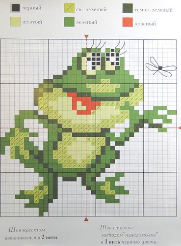 Лягушонок - схема (369x500
