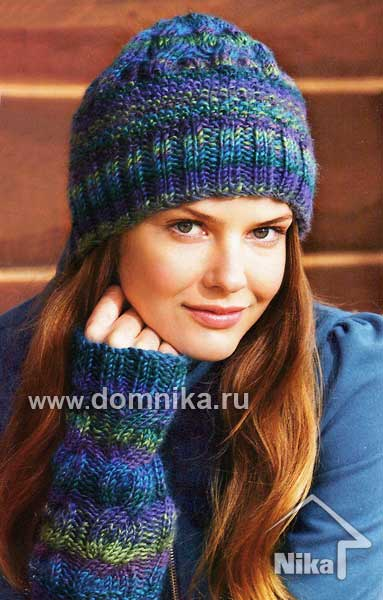 вязание шапок спицами Вязание крючком и спицами схемы и модели.