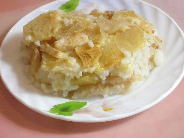 Рис с яблоками рецепт с фото