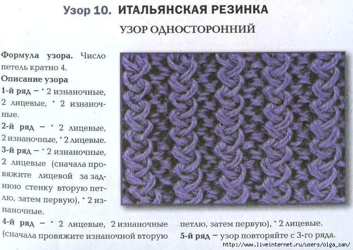 Вязание на спицах варианты узоров