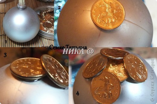 Топиарий своими руками из монет фото