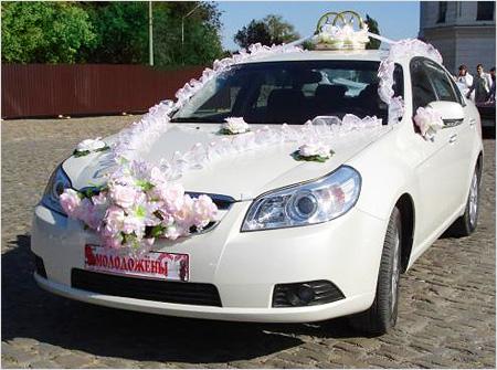 Укашаем свадебные машины