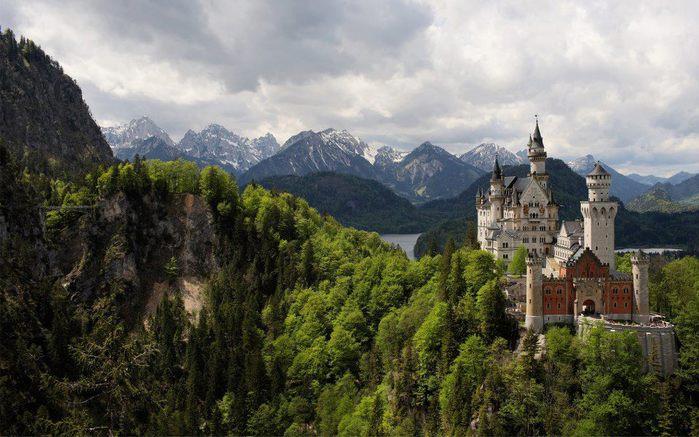 Замок Нойшванштайн, Германия (700x437, 71Kb)