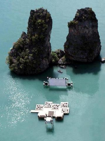 Кинотеатр на воде назвали Archipelago Cinema. Находится он на частном острове Яо Ноя в Андаманском море, Таиланд (358x480, 26Kb)