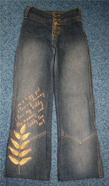 旧牛仔裤还能干什么?54 : 穿旧的牛仔裤可以翻新成......(主要在侧缝) - maomao - 我随心动
