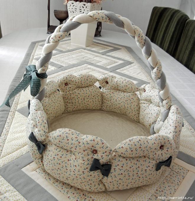 пасхальная корзинка с кроликами (660x683, 405Kb)
