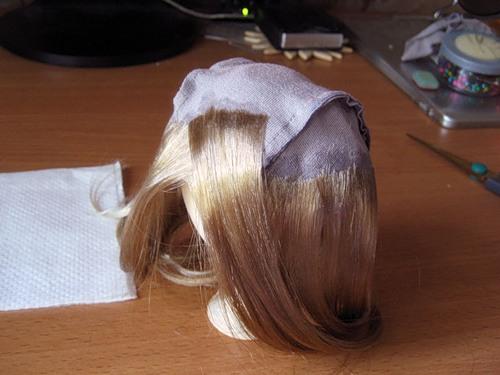 Как сделать парик для куклы из лент