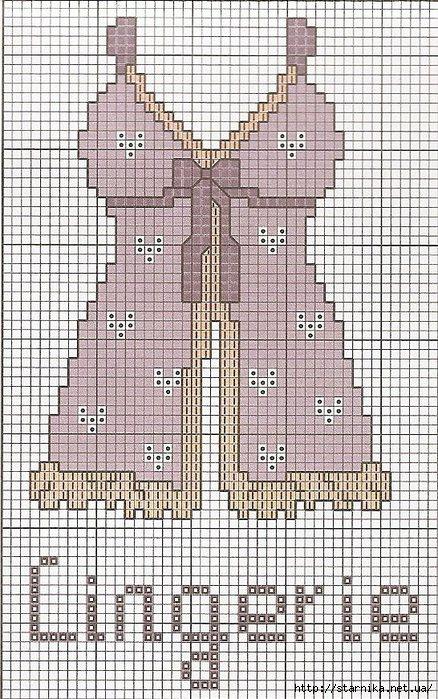 Схемы вышивки нижнего белья 49