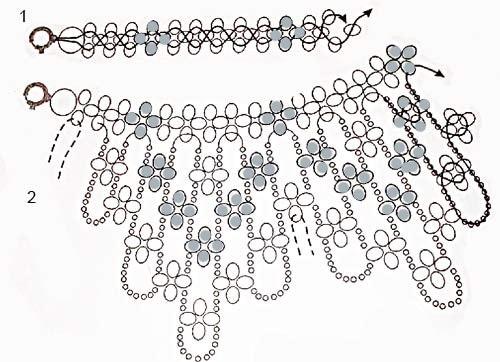 Воротнички своими руками схемы плетения фото