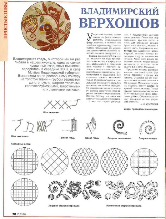 Схемы для вышивки владимирской гладью 33
