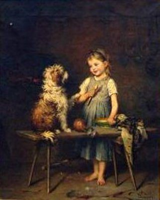 h-hirt-interior-with-young-girl-and-her-dog (321x400, 21Kb)
